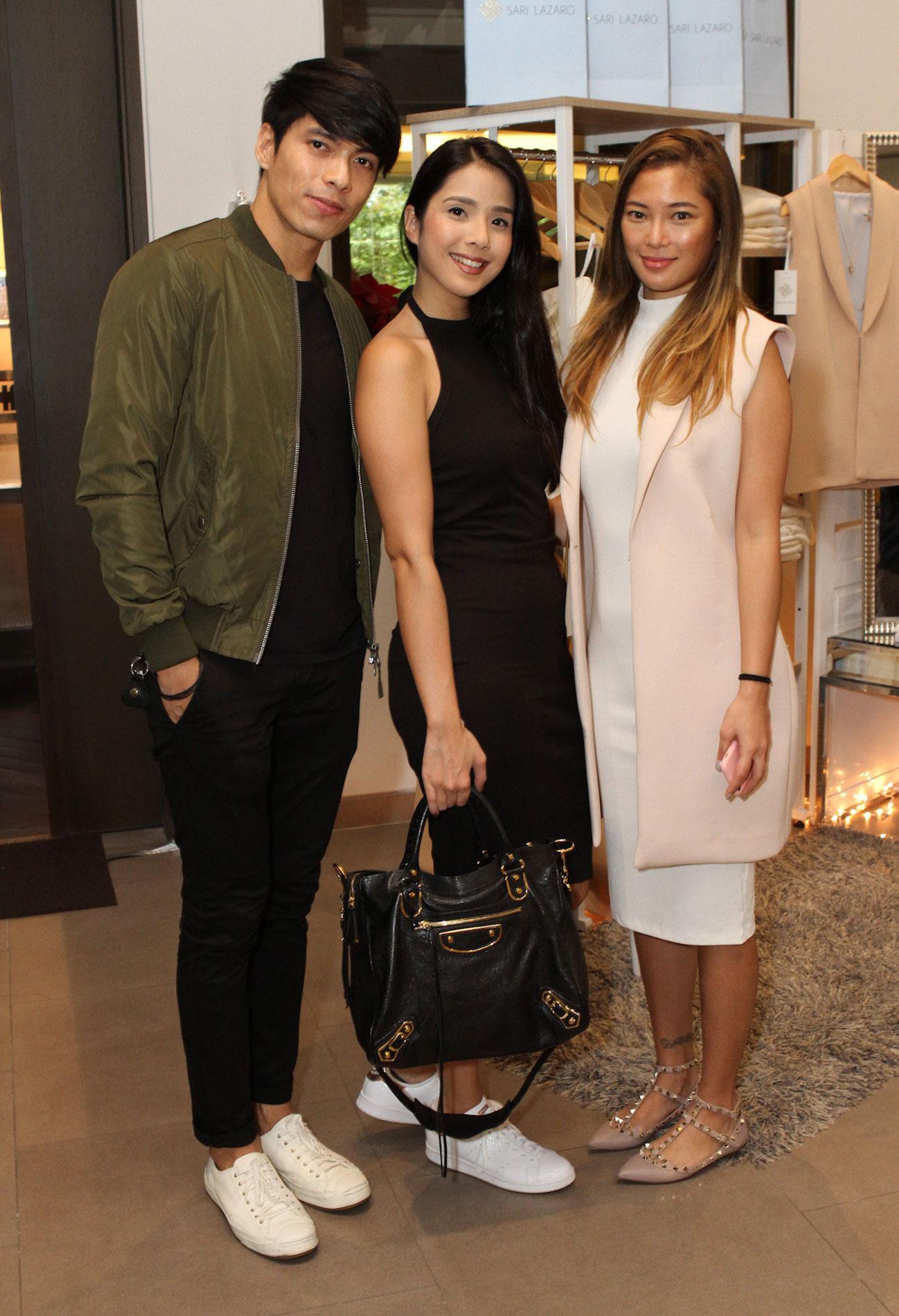 Robby Mananquil, Maxene Magalona and Sari Lazaro