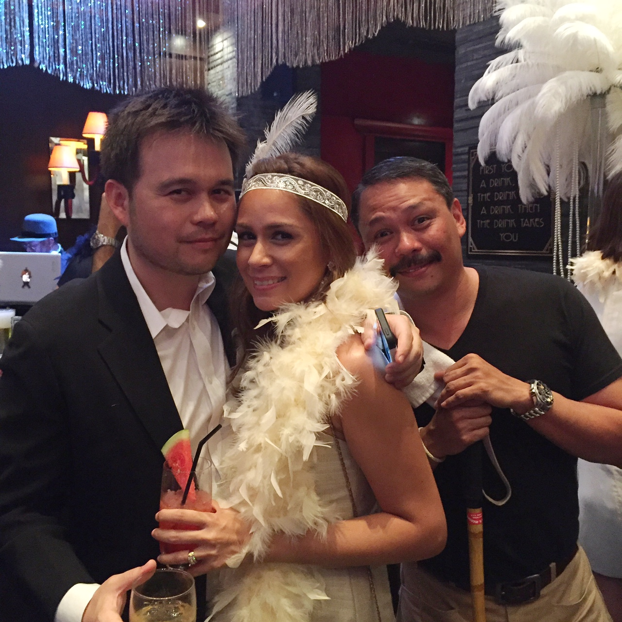 (From L-R) Ino Olondriz with his charming wife, Natalia and good friend, Coco Garcia