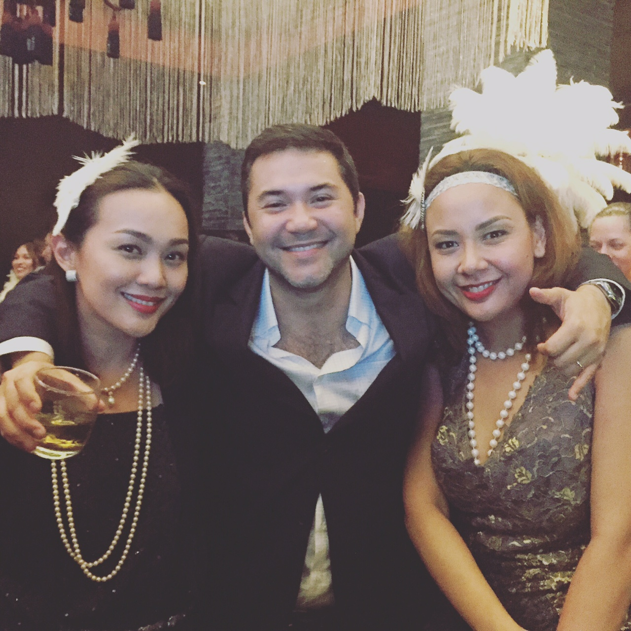 (From L-R) Yours truly with Shakey's top dog, Chukri Prieto and my partner at ARC Public Relations, Inc., Jenny Yrasuegui
