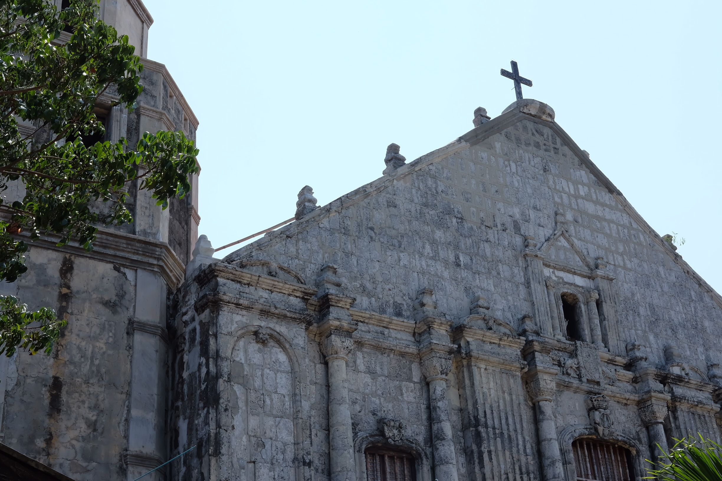 Bolinao's oldest church, St. James the Great. A Spanish colonial structure over 400 years old