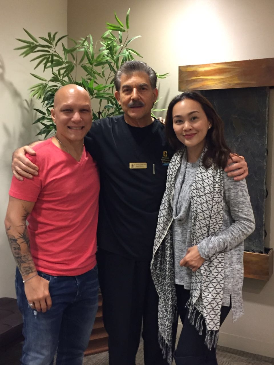 "With our doctor, Christo Zouves, who came highly recommended :) I even read his book: ""Expecting Miracles"" (Thank you, Cara!) which I highly recommend you do, too, if you or someone you love is going through the challenges of infertility"